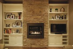 fireplace cabinets and bookcases - Google Search most like what i want in colors.