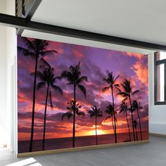 Scientists may have perfected the art of the hologram, but we've perfected the art of teleportation… Well, sort of. Our removable, adhesive wall murals have the ability to transport you to your favori Hawaiian Bedroom, Hawaiian Decor, Beach Wall Murals, Hawaiian Sunset, We Buy Houses, Bedroom Murals, Bedroom Desk, Of Wallpaper, Bedroom Wallpaper