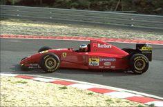 Michael Schumacher (Ferrari 412T2). Estoril Test, 1995.