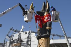We designed, printed, and dressed Anubis in an official Denver Broncos jersey for the Denver Art Museum's King Tut exhibit