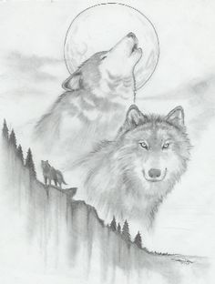 Wolf sketch by -vassago- Pencil Art Drawings, Art Drawings Sketches, Easy Drawings, Cool Wolf Drawings, Drawings Of Wolves, Wolf Drawing Easy, Animal Sketches, Animal Drawings, Coal Drawing