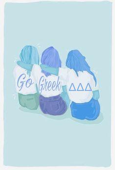 Tri Delta, Kappa Delta, Go Greek, Sorority Crafts, Big Little, Board, Inspiration, Biblical Inspiration, Inspirational