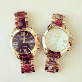 Floral Printed Bracelet Watch | louun
