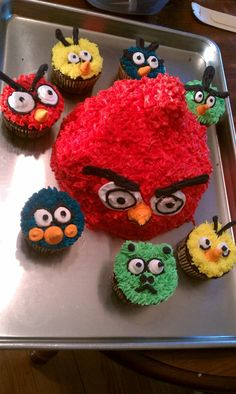 Angry birds cake - I made this in October for my sons 14th birthday, it was a hit!