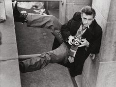James Dean with a Rolleiflex