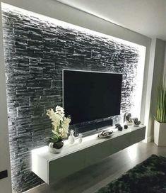Modernste und anmutigste TV-Wandgestaltung Wohnzimmer TV Decken Sch ne a Tv Wand Design, Wand Designs, Home Interior Design, Interior Decorating, Decorating Ideas, Interior Office, Simple Interior, Interior Colors, Interior Livingroom