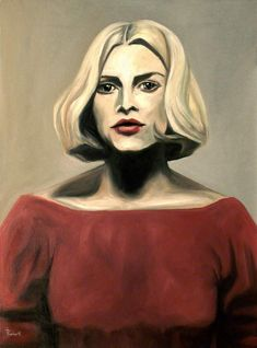 Buy KINSKI, Oil painting by Thomas Pramhas on Artfinder. Discover thousands of other original paintings, prints, sculptures and photography from independent artists. Girl Drawing Images, Art Drawings, Watercolor Portraits, Original Paintings, Original Art, Woman Face, Art For Sale, Cool Girl, Saatchi Art