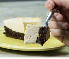 Torta-Brownie Mousse de Limão