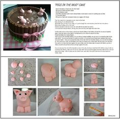 """""""Pigs in the Mud"""" Cake"""