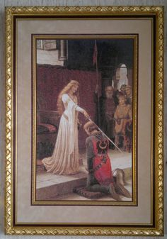 The Accolade - Edmund Blair-Leighton. 1901  stitched June 2011 - May 2013  Chart by Scarlet Quince