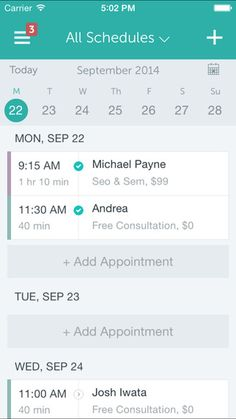 Client appointment or meeting scheduling could be applied for this utlity app for interior designers