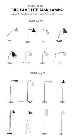 Studio McGee favorite task lamps