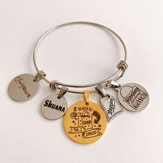Unique Bracelets, Beaded Bracelets, Photo Charm Bracelet, Photo Charms, Compact Mirror, Handmade Accessories, Custom Photo, Stylish, Pearl Bracelets