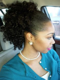 Classy afro puff. Can't wait till my hair gets like this!