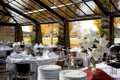 Beatiful table settings at our Wanaka wedding venue with great views. http://www.edgewater.co.nz/resort/weddings/