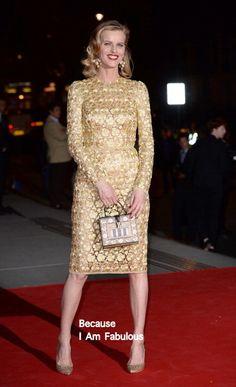 Fabulously Spotted: Eva Herzigova Wearing Dolce & Gabbana - The Glamour of Italian Fashion exhibition - http://www.becauseiamfabulous.com/2014/04/eva-herzigova-wearing-dolce-gabbana-the-glamour-of-italian-fashion-exhibition/