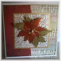 My Favourite Poinsettia Stamp by bookworm - Cards and Paper Crafts at Splitcoaststampers