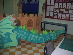 Back end of the 3D dragon made by the Reception children