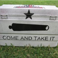 Painted Texas cooler.