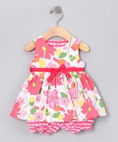 Adorable White Flower Skirted Romper - Infant by Plum Pudding on #zulily today!