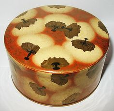 Early Coty Powder Box w Celluloid Base & Cellophane Cover