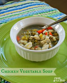 Chicken Vegetable Soup - this filling, low carb soup is great if you are watching your weight.