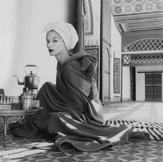 Lisa Fonssagrives in Marrakech.  Photo by Irving Penn.  Vogue, January 1, 1952.