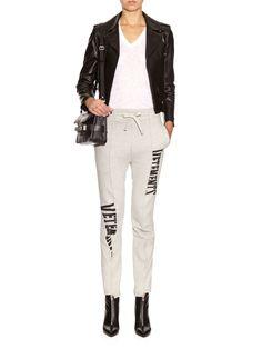 Logo-printed jersey track pants | Vetements | MATCHESFASHION.COM UK | #MATCHESFASHION