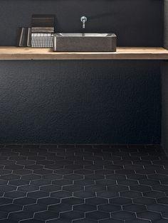 Phenomenon - Nero - Porcelain Tile STONE SOURCE- cream and grey/brown