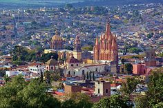 Panoramic view of San Miguel de Allende, Mexico