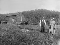 Mr and Mrs Persson, Dalarna, Sweden. 1930s.