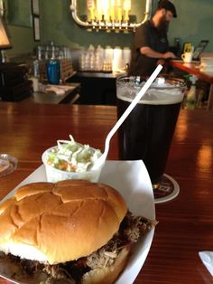 Mmmm, Kulshan brewery beer for lunch with pulled pork!