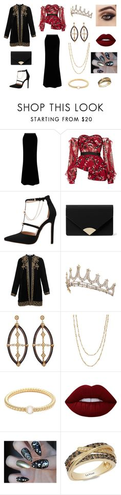 """Faye Hunter 2"" by jade-rose-872 ❤ liked on Polyvore featuring Gareth Pugh, self-portrait, MICHAEL Michael Kors, Bella Tu, Alor, Samira 13, Lime Crime and LE VIAN"