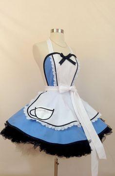 Mardi Gras, Pin Up, Great Halloween Costumes, Alice In Wonderland Costume, Bodice Top, Retro Apron, White Apron, Leg Avenue, Kona Cotton
