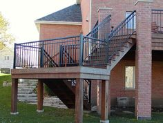 Stair Railings - Custom Built Stair Guardrails and Adjustable Stair Panels Stair Railing Parts, Railings, Stair Panels, Stairs, Exterior, Building, Outdoor Decor, Home Decor, Floating Stairs