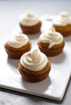 These are the best carrot cake cupcakes I've ever had! With a cream cheese frosting, of course. Perfect for dessert or brunch! #dessert #yummy #cupcakerecipe #recipe | pinchofyum.com