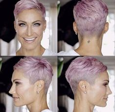 33 Pixie Cuts For Women Who Want To Look Stylish - Lead Hairstyles Long Pixie Cuts, Short Pixie Haircuts, Short Hairstyles For Women, Short Hair Cuts, Short Hair Styles, Pixie Styles, Pixie Hairstyles, Green Hair, Pink Hair