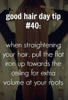 Volumizing technique for straightning hair.