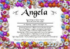 Angies Creation: Search results for angela Meaning Of My Name, Personal Integrity, Greek Names, Hebrew Names, Baby Names And Meanings, Deceit, How To Be Outgoing, No Time For Me, Falling In Love