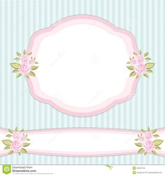 Shabby Chic Wallpaper Border | Vintage floral frame with roses in shabby chic style.