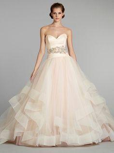 Pretty cream wedding dress