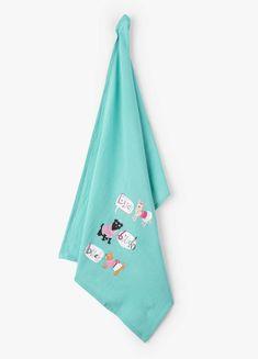 15c9df3ecddf Little Blue House by Hatley Tea Flour Sack Towel BITCH BITCH BITCH kitchen  Dog