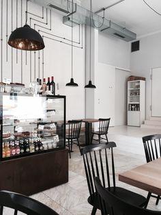 Bistro Proti Proudu in Praha, Hlavní město Praha Fast Food Places, Linear Lighting, Free Market, Hot Spots, Cafe Bar, Industrial Design, Coffee Shop, Liquor, Dips