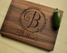 Personalized Cutting Board  Engraved Cutting by CircleCityDesignCo