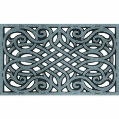 Apache Mills 60-951-1703 Wrought Iron Graphite Doormat, 18-Inch by 30-Inch by Apache Mills. $23.81. Ideal mat for year around outdoor use. This product comes in graphite color. Decorative mat with amazing scraping ability. Cleanscrape wrought iron mat. This cleanscrape wrought iron mat is ideal for year around outdoor use. It is a heavy duty decorative mat with amazing scraping ability, it also repels water for great traction in all weather and is easy to clean. The chromagr...