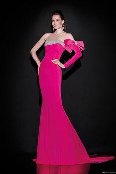 Velvet Hot Pink Dresses For Winter 2016