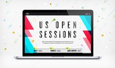 This is the home page I directed & designed for the US Open Sessions project. The site dynamically creates music and visuals based on real-time data from the US Open & IBM. My roles were: Creative direction, design, motion direction, storyboarding, nav prototype html, css, javascript.