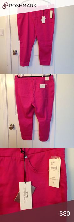 Melissa McCarthy for Seven Pencil Capri NWT Pink Pencil Capris from Melissa McCarthy for Seven. Very nice quality, but just a little too big for me. Melissa McCarthy Seven7 Pants Capris