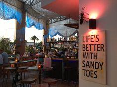 Possibly my fave beach bar ever #playadenbossa #ibiza #sandytoes