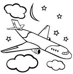 airplane with moon and star coloring pages airplane with moon and star coloring pages - Coloring Pages Stars Moons